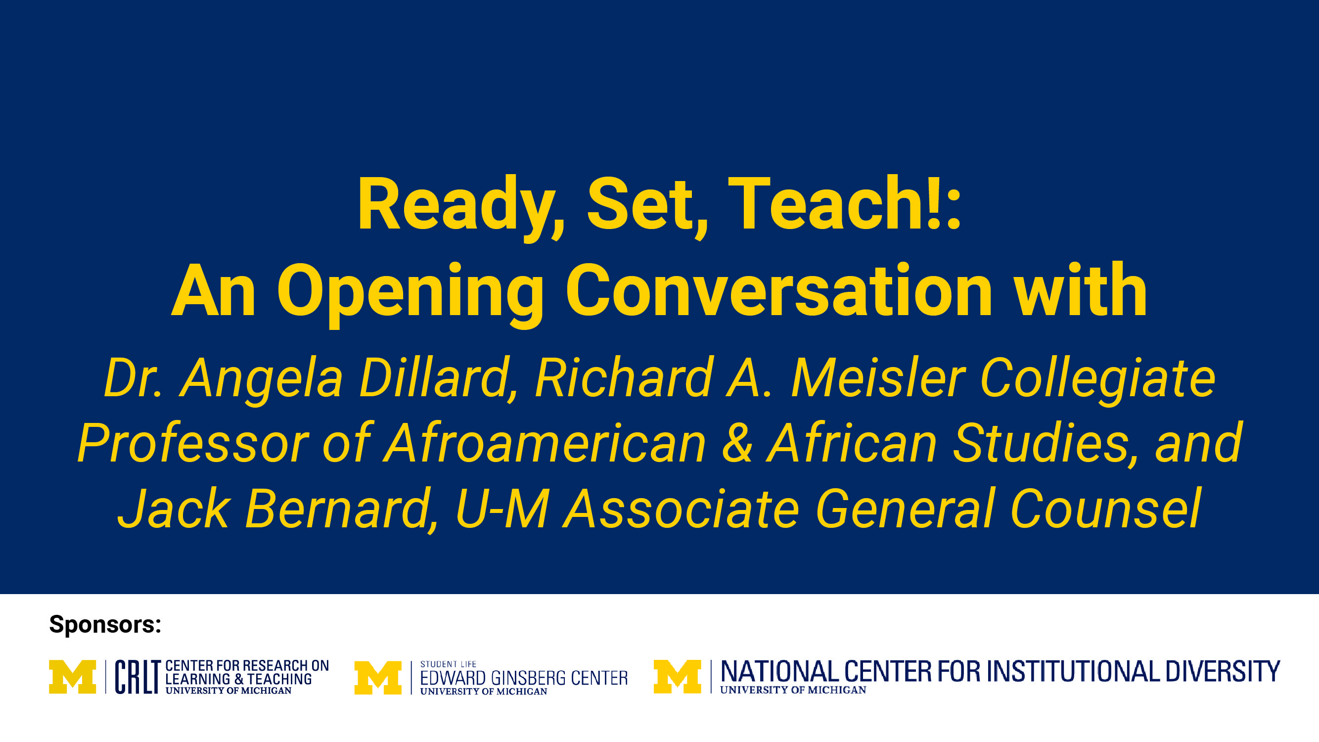 Ready, Set, Teach: An Opening Conversation video title